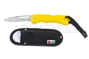 Coltello Serramanico BestDivers Giallo Inox