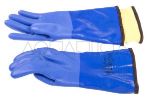 Guanti Stagni PVC con Sottoguanto Removibile per Montaggio su Anelli foto 1